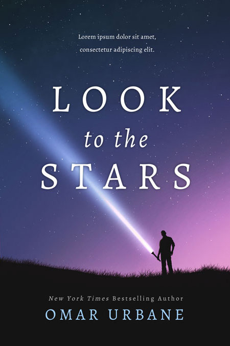 Look to the Stars - Science Fiction Premade Book Cover For Sale @ Beetiful Book Covers