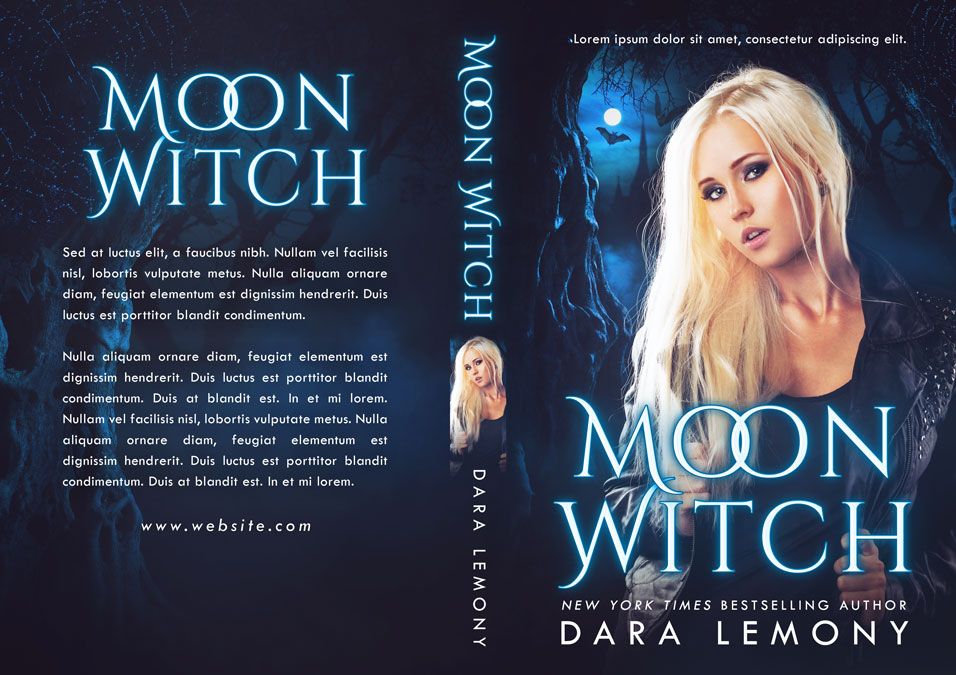 Moon Witch - Paranormal Romance / Fantasy Premade Book Cover For Sale @ Beetiful Book Covers