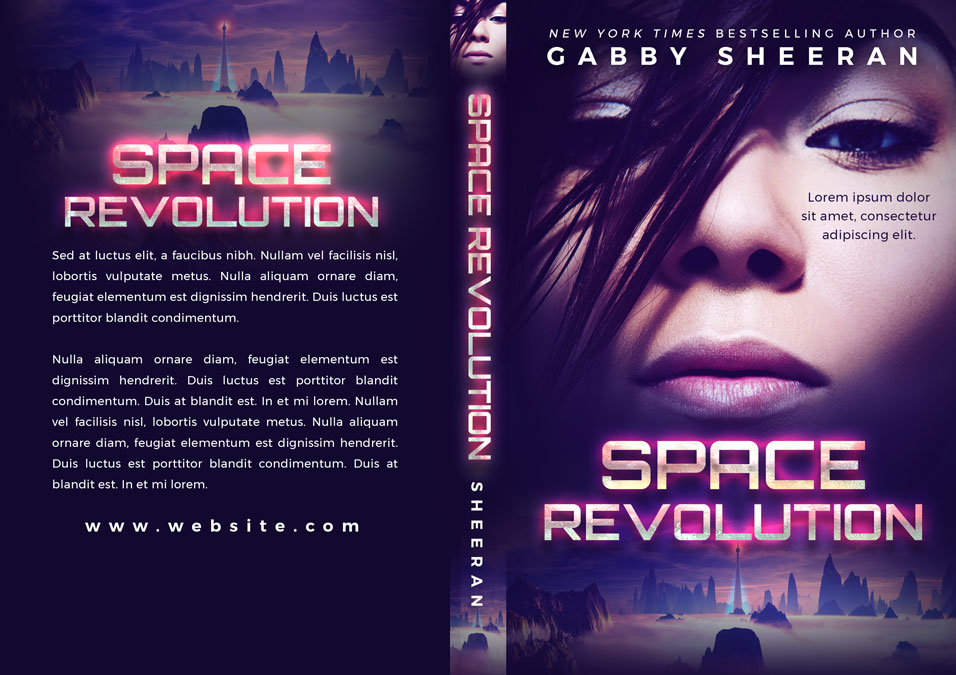 Space Revolution - Science Fiction Premade Book Cover For Sale @ Beetiful Book Covers