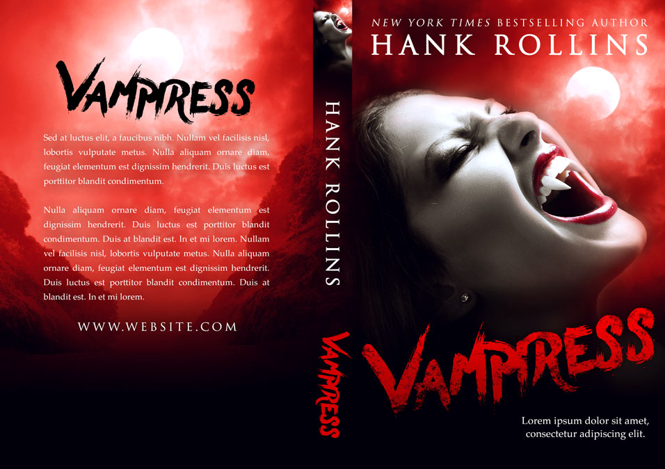 Vampiress - Horror / Vampire Premade Book Cover For Sale @ Beetiful Book Covers