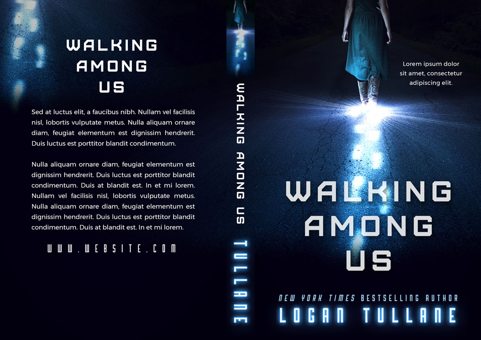 Walking Among Us - Science Fiction Premade Book Cover For Sale @ Beetiful Book Covers