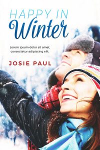 Happy In Winter - Winter Romance Premade Book Cover For Sale @ Beetiful Book Covers