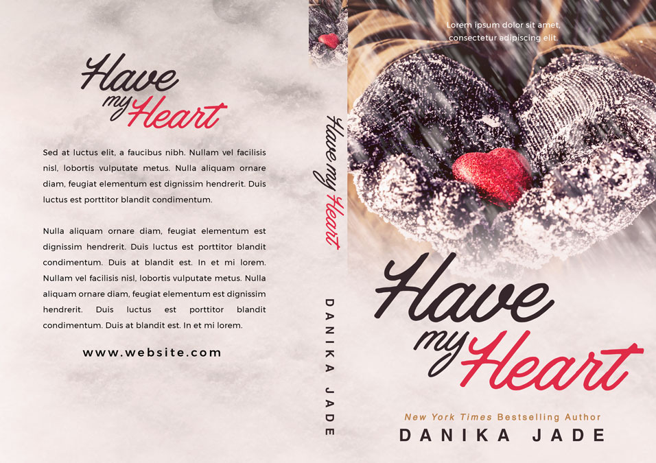 Have My Heart - Winter Romance Premade Book Cover For Sale @ Beetiful Book Covers