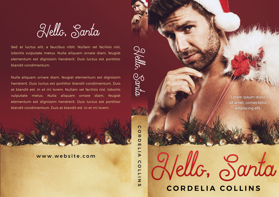 Hello, Santa - Christmas Premade Book Cover For Sale @ Beetiful Book Covers