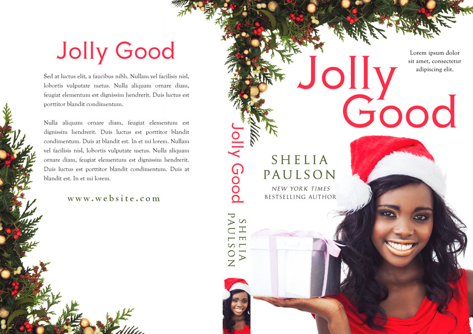 Jolly Good - Christmas Premade Book Cover For Sale @ Beetiful Book Covers