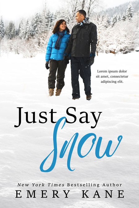 Just Say Snow - Winter African-American Romance Premade Book Cover For Sale @ Beetiful Book Covers
