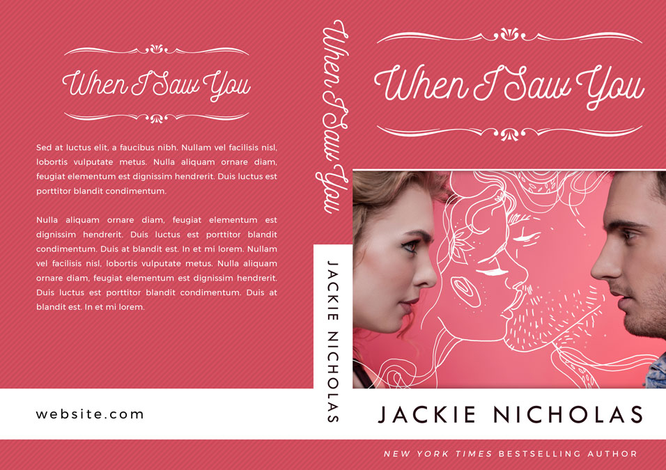 When I Saw You - Chicklit Romance Premade Book Cover For Sale @ Beetiful Book Covers