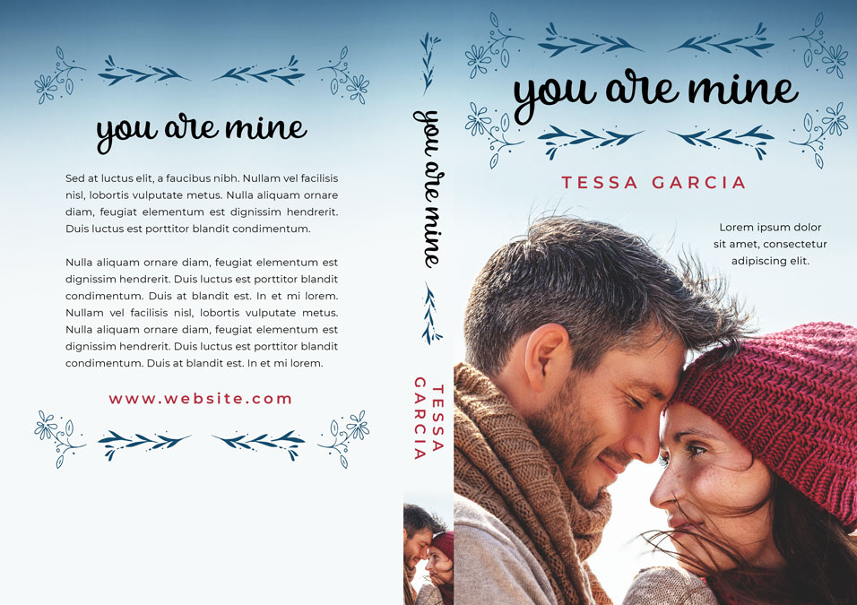 You Are Mine - Winter Romance Premade Book Cover For Sale @ Beetiful Book Covers