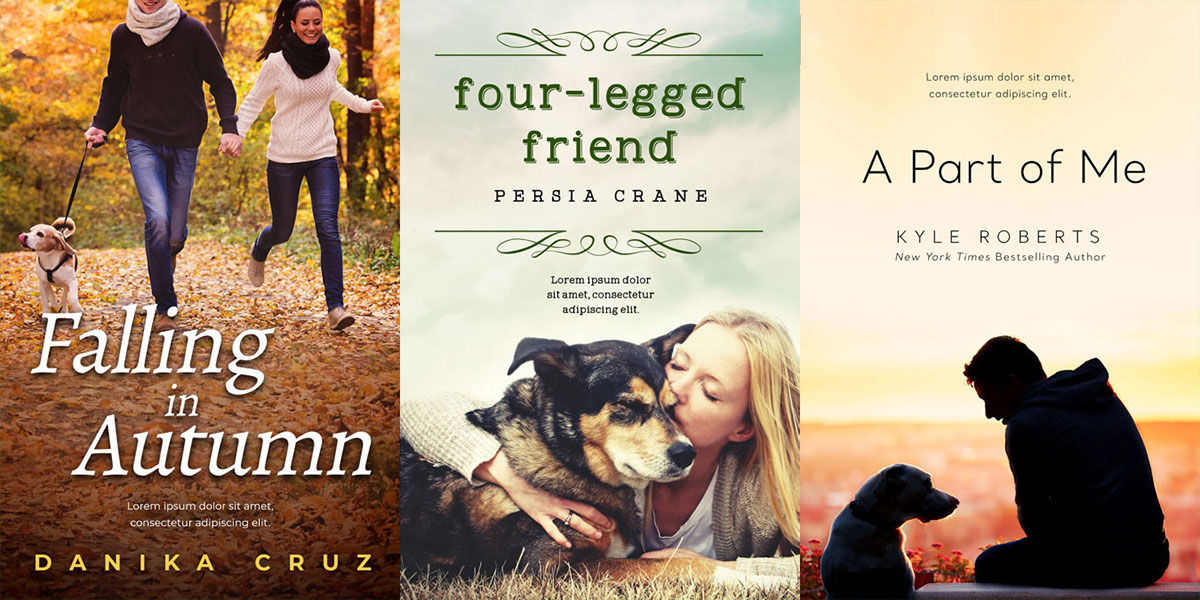 12 New Romance Book Covers Featuring Dogs
