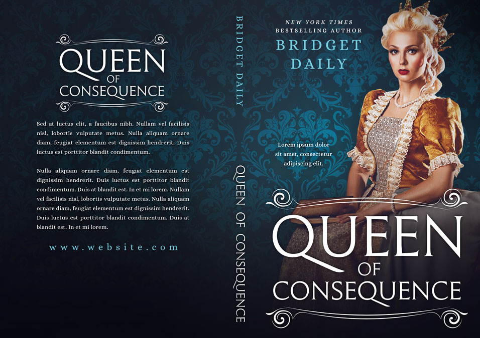 Queen of Consequence - Historical Premade Book Cover For Sale @ Beetiful Book Covers