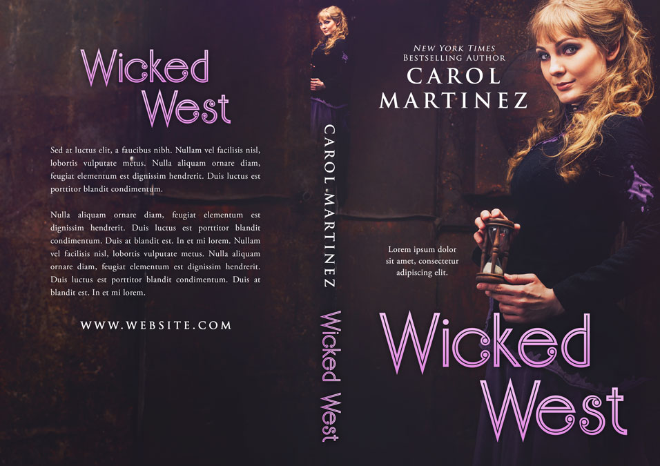 Wicked West - Historical Western Romance Premade Book Cover For Sale @ Beetiful Book Covers