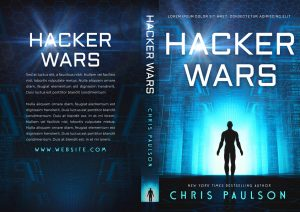 Hacker Wars - Science-Fiction Pre-made Book Cover For Sale