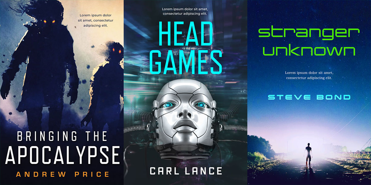 22 New Science Fiction Premade Book Covers