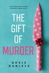 The Gift of Murder - Cozy Mystery Premade / Predesigned Book Cover For Sale @ Beetiful Book Covers