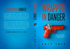 Wrapped In Danger - Cozy Mystery Premade / Predesigned Book Cover For Sale @ Beetiful Book Covers
