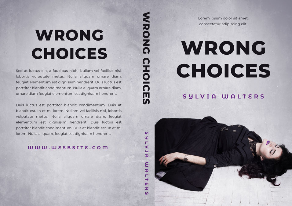 Wrong Choices - Mystery / Thriller Premade / Predesigned Book Cover For Sale @ Beetiful Book Covers