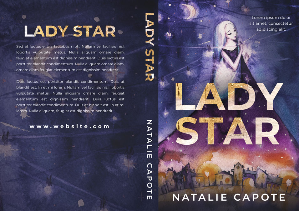 Lady Star - Children's / Juvenile Fiction Premade / Predesigned Book Cover For Sale @ Beetiful Book Covers