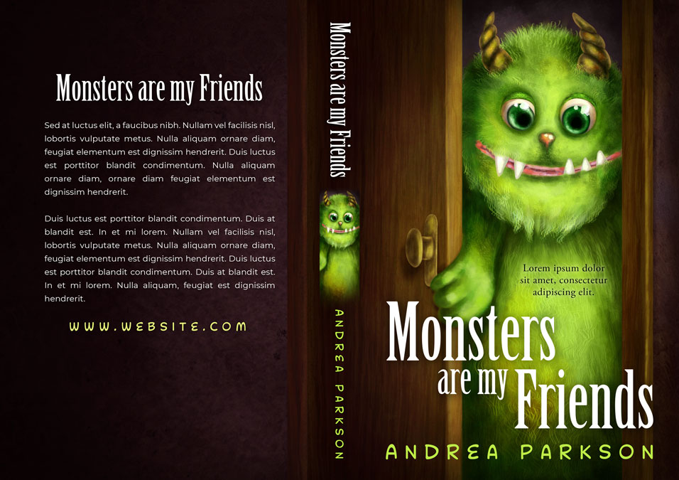 Monsters are my Friends - Children's / Juvenile Fiction Premade / Predesigned Book Cover For Sale @ Beetiful Book Covers