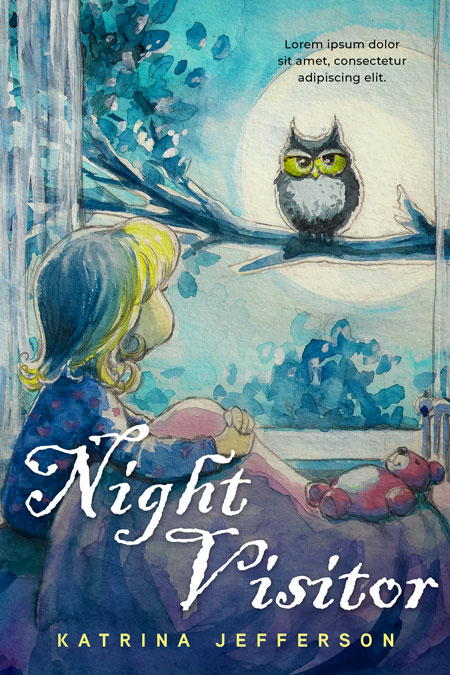 Night Visitor - Children's / Juvenile Fiction Premade / Predesigned Book Cover For Sale @ Beetiful Book Covers