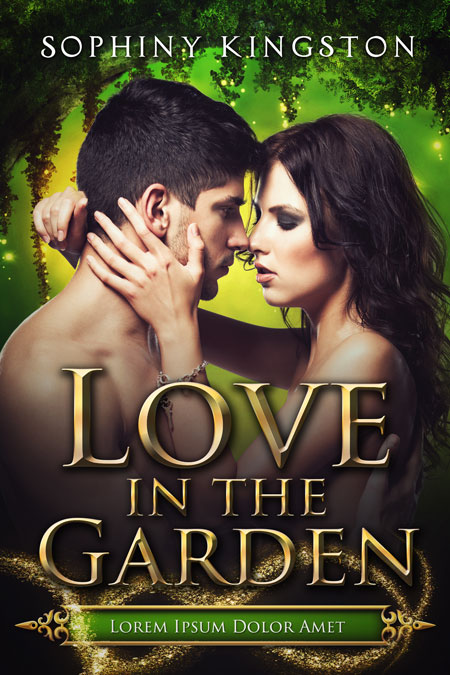 Love In The Garden - Fantasy Romance Premade Book Cover For Sale @ Beetiful Book Covers