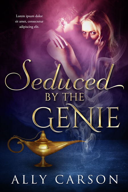Seduced By The Genie - Fantasy Premade Book Cover For Sale @ Beetiful Book Covers