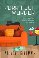 Purr-fect Murder – Cozy Mystery Book Cover For Sale