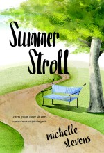 Summer Stroll – Illustrated Chick-Lit Book Cover For Sale