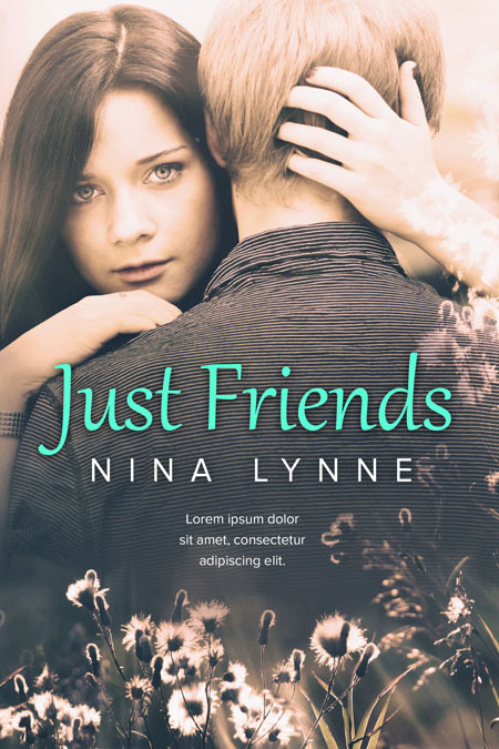 Ya Romance Book Cover : Just friends young adult romance premade book cover for