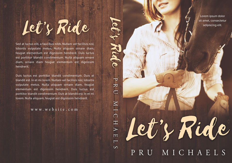 Let's Ride - Women's Fiction Pre-made Book Cover For Sale @ Beetiful Book Covers