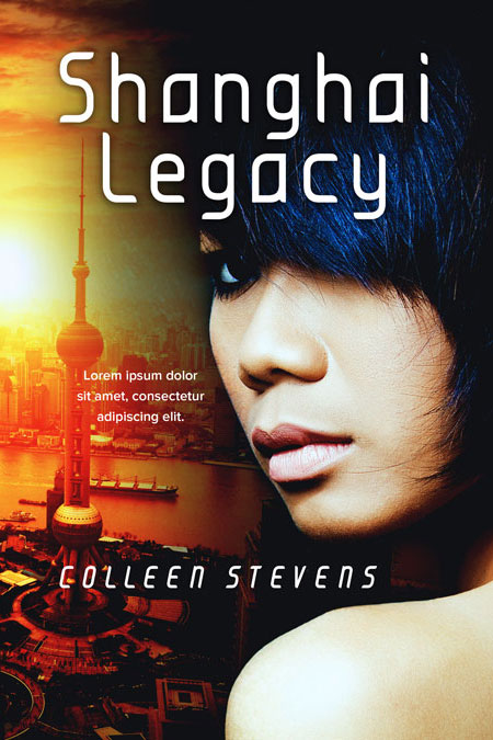 Shanghai Legacy - Chinese Thriller Premade Book Cover For Sale @ Beetiful Book Covers