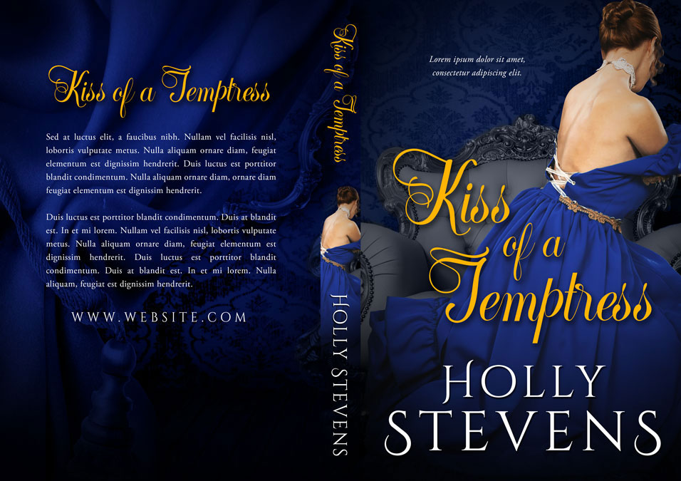 Kiss of a Temptress - Historical Romance Premade Book Cover For Sale @ Beetiful Book Covers