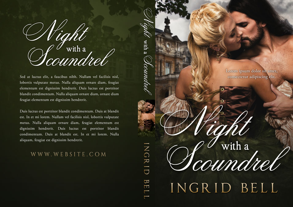 Night With a Scoundrel - Historical Romance Premade Book Cover For Sale @ Beetiful Book Covers