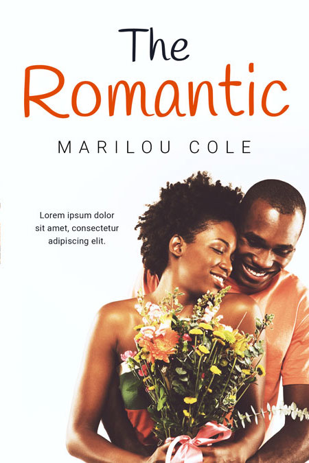 The Romantic - African-American Romance Premade Book Cover For Sale @ Beetiful Book Covers