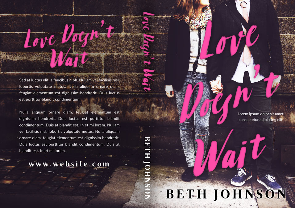 Ya Romance Book Cover : Love doesn t wait young adult romance premade book cover