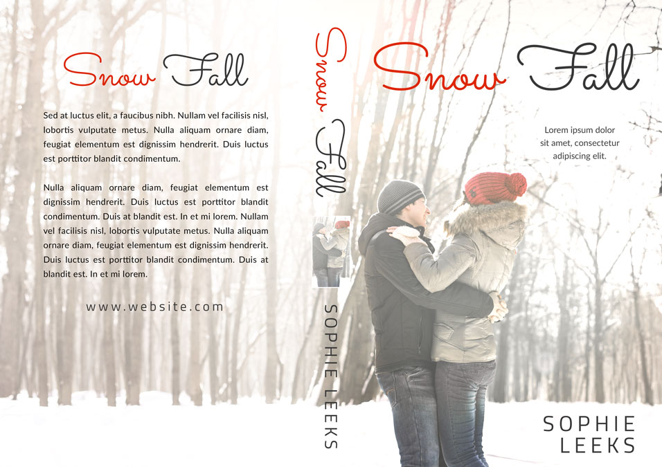 Snow Fall - Winter Romance Premade Book Cover For Sale @ Beetiful Book Covers