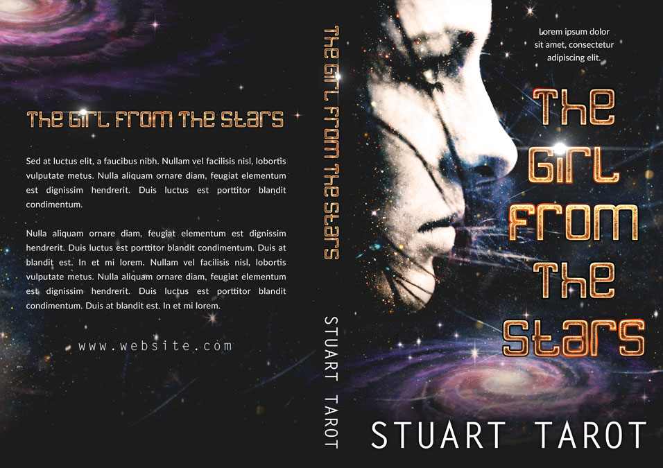 The Girl From the Stars - Science-fiction Premade Book Cover For Sale @ Beetiful Book Covers