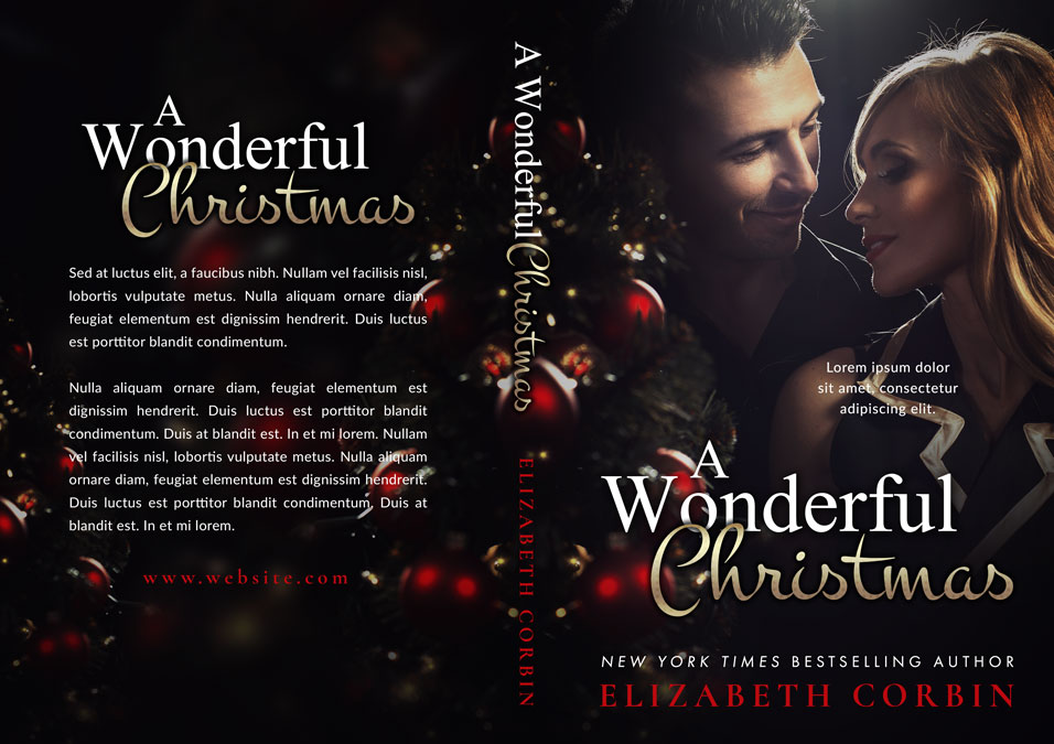 A Wonderful Christmas - Christmas Romance Premade Book Cover For Sale @ Beetiful Book Covers