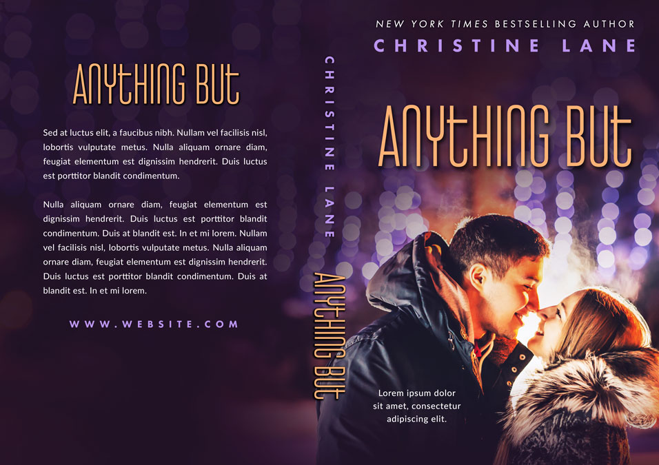 Anything But - Young Adult Winter Romance Premade Book Cover For Sale @ Beetiful Book Covers