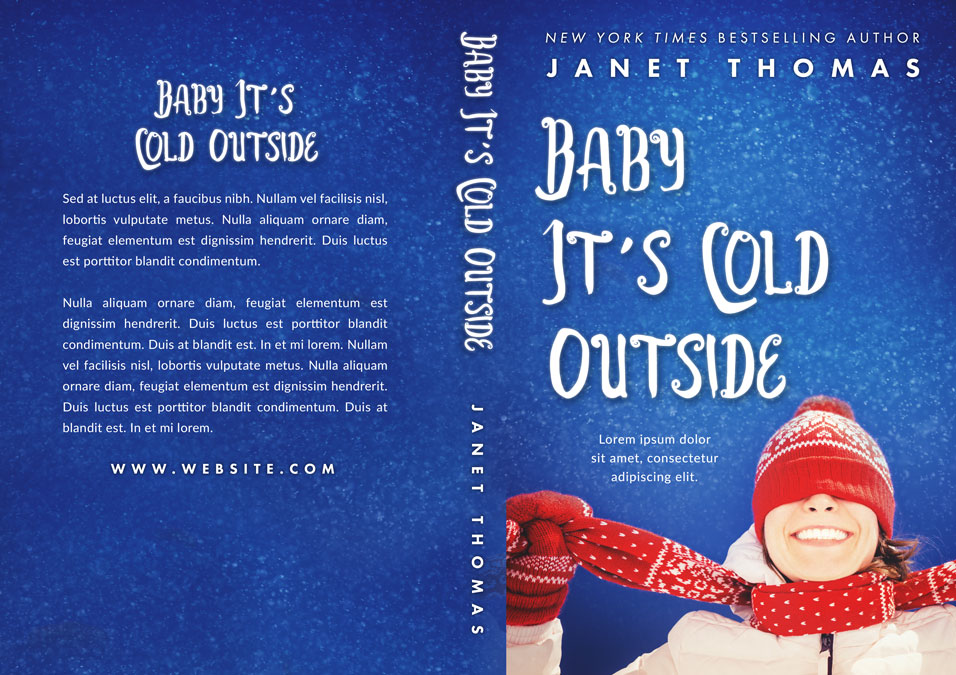 Baby It's Cold Outside - Winter Fiction Premade Book Cover For Sale @ Beetiful Book Covers