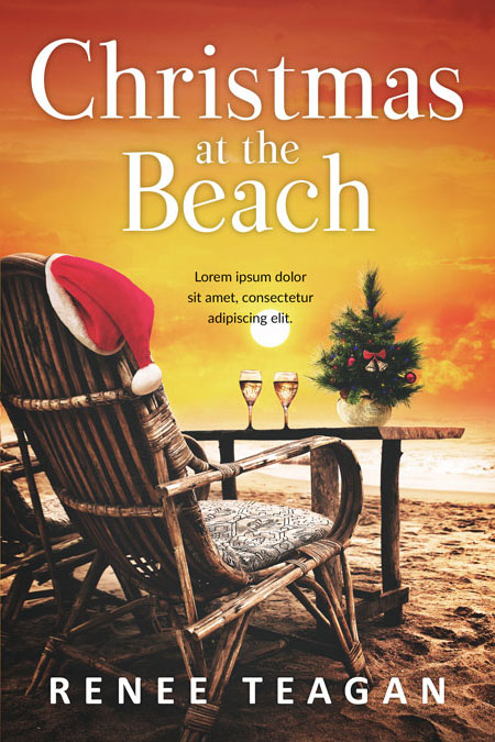Christmas at the Beach - Christmas Romance Premade Book Cover For Sale @ Beetiful Book Covers