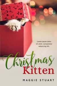 Christmas Kitten - Christmas Fiction Premade Book Cover For Sale @ Beetiful Book Covers