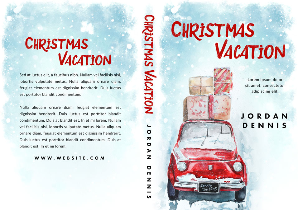 Christmas Vacation - Christmas Fiction Premade Book Cover For Sale @ Beetiful Book Covers