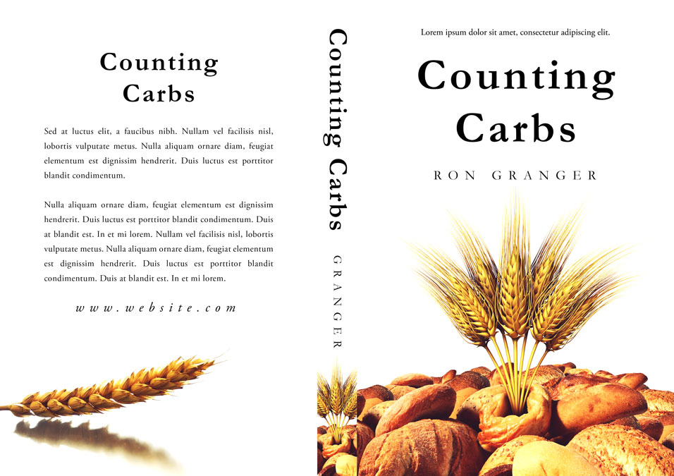 Counting Carbs - Nonfiction Premade Book Cover For Sale @ Beetiful Book Covers