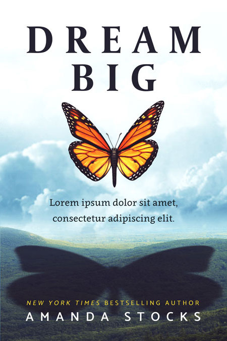 Dream Big - Inspirational Premade Book Cover For Sale @ Beetiful Book Covers