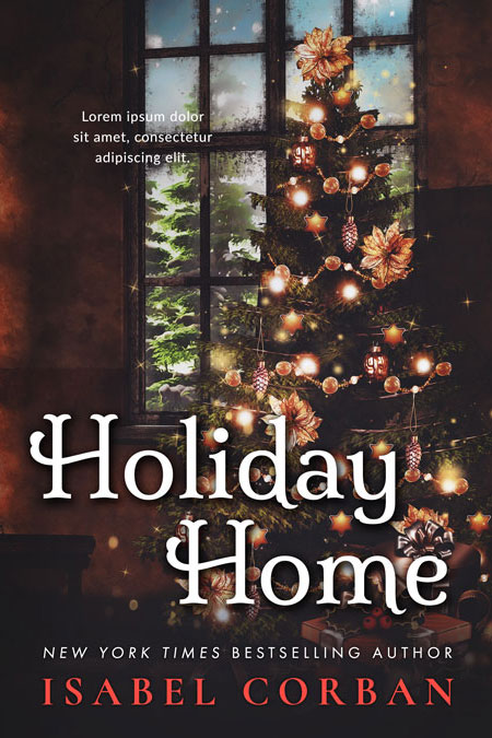 Holiday Home - Christmas Premade Book Cover For Sale @ Beetiful Book Covers