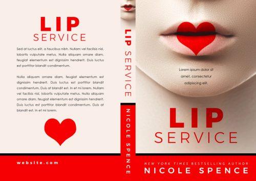 Lip Service - Contemporary Romance Premade Book Cover For Sale @ Beetiful Book Covers
