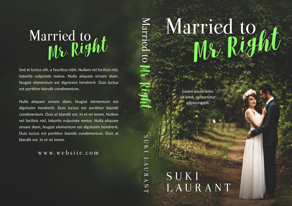 Married to Mr. Right - Romance Premade Book Cover For Sale @ Beetiful Book Covers