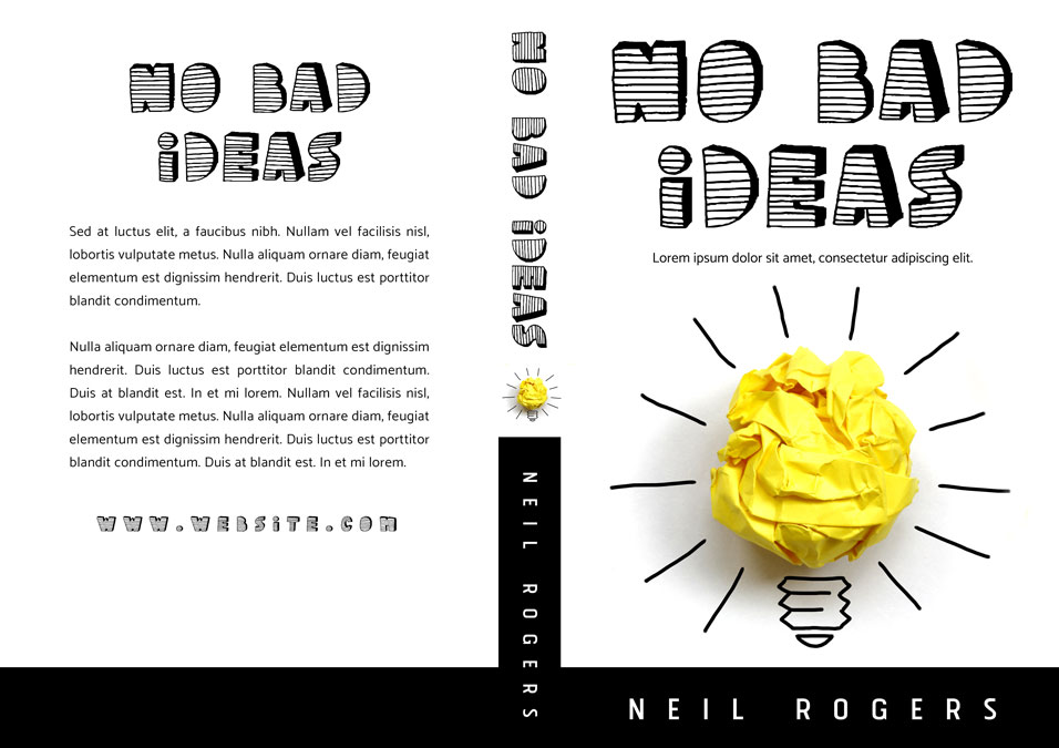No Bad Ideas - Non-fiction Premade Book Cover For Sale @ Beetiful Book Covers