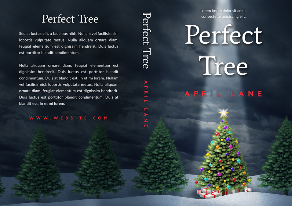 Perfect Tree - Christmas Premade Book Cover For Sale @ Beetiful Book Covers