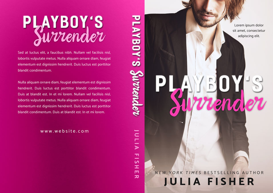 Playboy's Surrender - Romance Premade Book Cover For Sale @ Beetiful Book Covers